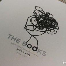 Coleccionismo de carteles: THE BOOKS / 2006 CONCERT MINI POSTER 19X14 CM APROX. Lote 204498830