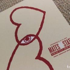 Coleccionismo de carteles: MATES OF STATE / TOUR CONCERT MINI POSTER 19X14 CM APROX. Lote 204500910