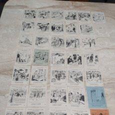 Coleccionismo de carteles: 36 FOLLETOS CAMPAÑA DE LA PRUDENCIA CON PROPAGANDA DE COMERCIOS DE MANRESA. Lote 204537056