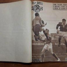 Coleccionismo de carteles: TOMO I BUT CLUB ET LE MIROIR DES SPORTS N° 495 AL N° 521 27 NUMEROS AÑO 1955 CICLISMO BOXEO FUTBOL. Lote 204792900