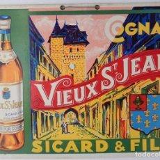 Coleccionismo de carteles: COGNAC VIEUX ST. JEAN - SICARD & FILS. Lote 205180796