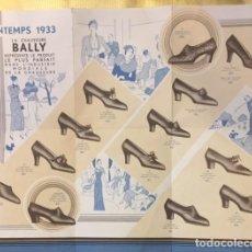 Collezionismo di affissi: CATALOGO PROPAGANDA ZAPATOS CALZADOS BALLY PRINTEMPS 1933. Lote 205294238