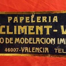 Coleccionismo de carteles: CARTEL EN CARTÓN DE LA PAPELERIA J.A. CLIMENT VILA DE VALENCIA AÑOS 50 16 X 44 CM.. Lote 205766733