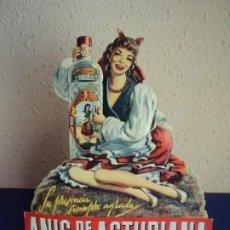 Coleccionismo de carteles: (PUB-200515)CARTEL PUBLICITARIO TROQUELADO DE ANÍS DE LA ASTURIANA. AÑOS 40.. Lote 205791186