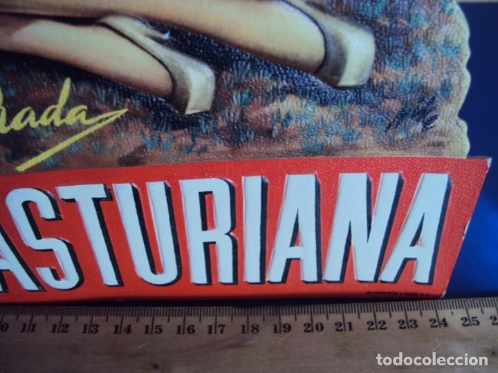 Coleccionismo de carteles: (PUB-200515)Cartel publicitario troquelado de Anís de la Asturiana. Años 40. - Foto 4 - 205791186