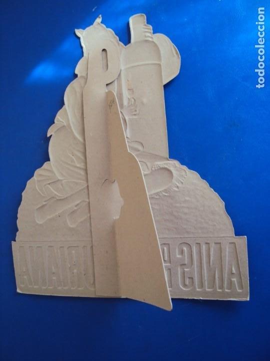 Coleccionismo de carteles: (PUB-200515)Cartel publicitario troquelado de Anís de la Asturiana. Años 40. - Foto 6 - 205791186