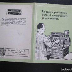 Coleccionismo de carteles: FOLLETO PUBLICITARIO CAJAS REGISTRADORAS THE NATIONAL CASH REGISTER CO. Lote 206365903