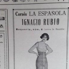 Coleccionismo de carteles: CORSES LA ESPAÑOLA IGNACIO RUBIO BARCELONA HOJA AÑO 1928. Lote 206366550