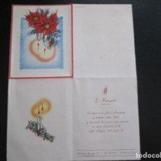 Coleccionismo de carteles: FOLLETO PUBLICITARIO MARGARIT SASTRE FELICITACIÓN DE NAVIDADES BARCELONA 1954. Lote 206369096