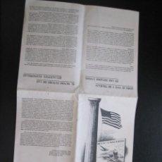 Coleccionismo de carteles: FOLLETO PUBLICITARIO EXPOSICION DE LOS ESTADOS UNIDOS FERIA DE MUESTRAS BARCELONA 1944. Lote 206370197