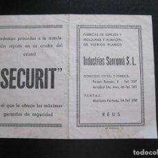 Coleccionismo de carteles: FOLLETO PUBLICITARIO INDUSTRIAS SANROMÁ S.L. REUS. Lote 206370901