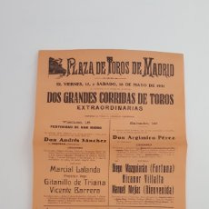 Coleccionismo de carteles: CARTEL DE TOROS, 1931. Lote 206390071