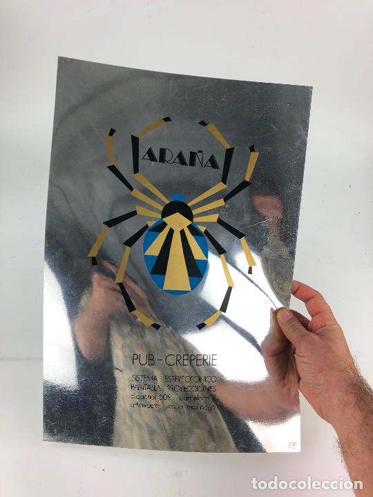 Coleccionismo de carteles: ARAÑA - PUB CREPERIE. DIAGONAL 608. BARCELONA CARTEL 29x44 cm. 1970s. - Foto 2 - 206963267
