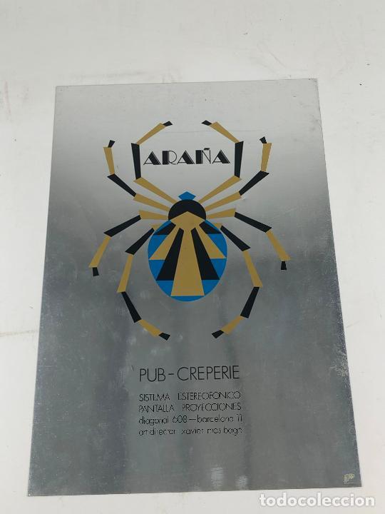 Coleccionismo de carteles: ARAÑA - PUB CREPERIE. DIAGONAL 608. BARCELONA CARTEL 29x44 cm. 1970s. - Foto 5 - 206963267