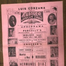 Collezionismo di affissi: CARTEL AMERICAN CIRQUE. HERMANOS DIAZ Y LUIS CORZANA. PAMPLONA. AÑOS 30. Lote 206973101