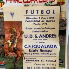 Coleccionismo de carteles: CARTEL S.ANDRES C.F. IGUALADA. Lote 207046257