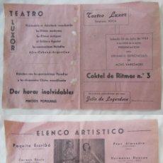 Coleccionismo de carteles: COKTEL DE RITMOS Nº 3, CALAHORRA 1952. TEATRO LUXOR. Lote 207194436