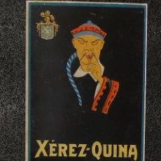 Coleccionismo de carteles: VALDESPINO. ANTIGUO LOTE PLACA METÁLICA Y CARTEL PEQUEÑO.. Lote 207369835