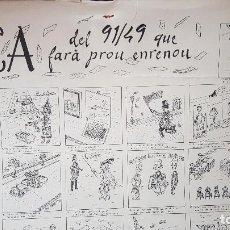 Coleccionismo de carteles: AUCA DEL 91/49 QUE FARA PROU ENRENAU. Lote 207631037