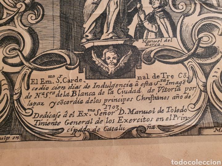 Coleccionismo de carteles: REPRODUCCION GRABADO VIRGEN BLANCA. DE LA CIUDAD DE VITORIA. 1970. - Foto 6 - 207870753