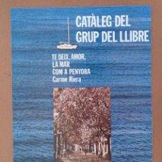 Coleccionismo de carteles: CARTEL PRESENTACION ELS PLATANS DE BARCELONA VICTOR MORA GRUP DEL LLIBRE. Lote 208162832