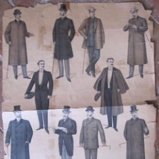 Coleccionismo de carteles: CARTEL. EL MUSEO DE LOS SASTRES ILUSTRADO. 1901. 59 X 42 CM. Lote 208328836