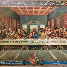 Coleccionismo de carteles: CARTEL CHOCOLATES DE LA TRAPA - PAGÉS Y ROCAFORT - BARCELONA. Lote 208657520