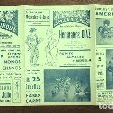 Collezionismo di affissi: CARTEL AMERICAIN CIRQUE. CIRCO AMERICANO. FERIA DE PAMPLONA. AÑOS 30. Lote 209320401