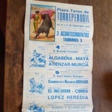 Coleccionismo de carteles: CARTEL TOROS TORREPEROGIL 1976 ZXY. Lote 209667155