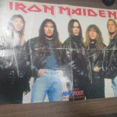 Coleccionismo de carteles: IRON MAIDEN. METAL HEAVYROCK. MAGAZINE.. Lote 209999662