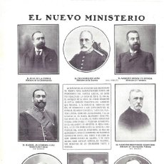 Collectionnisme d'affiches: 1907 HOJA REVISTA GOBIERNO DE LA CIERVA DE LOÑO ALLENDESALAZAR FERRÁNDIZ DE OSMA GONZÁLEZ BESADA. Lote 210635333