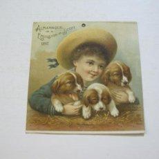 Coleccionismo de carteles: FARMACIA-ALMANAQUE EMULSION SCOTT-AÑO 1892-PUBLICIDAD ANTIGUA-VER FOTOS-(V-21.185). Lote 210965946