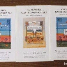 Coleccionismo de carteles: ALP (GIRONA) - CARTELES FERIA GASTRONÓMICA. Lote 211609831