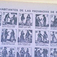 Coleccionismo de carteles: HABITANTES DE LAS PROVINCIAS DE ESPAÑANº28. Lote 212699796