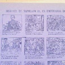 Coleccionismo de carteles: HISTORIA DE NAPOLEON III -Nºº75. Lote 212699826