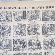 Coleccionismo de carteles: VIDA DE SANTA EULALIS Y SANTA TERESA DE JESUS-Nº111. Lote 212700122