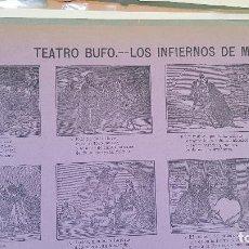 Coleccionismo de carteles: TEATRO BUFO LOS INFIERNOS DE MADRID-Nº108. Lote 212700338