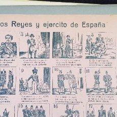 Coleccionismo de carteles: LOS REYES Y EL EJERCITO DE ESPAÑA Nº37. Lote 212700530