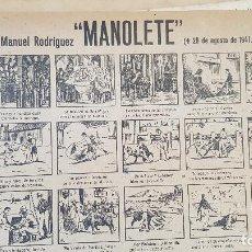 Coleccionismo de carteles: MANOLETE 1947. Lote 212700640