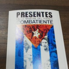 Coleccionismo de carteles: REVOLUCION. CUBA. CUBANA. PEQUEÑO CARTEL. MEDIDAS : 18 X 14 CM APROX.. Lote 212960647