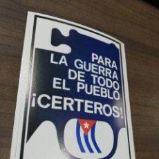 Coleccionismo de carteles: REVOLUCION. CUBA. CUBANA. PEQUEÑO CARTEL. MEDIDAS : 18 X 14 CM APROX.. Lote 212960786