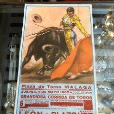 Coleccionismo de carteles: CARTEL DE TOROS MÁLAGA 1967 ( 23 X 46 CM.). Lote 212964190