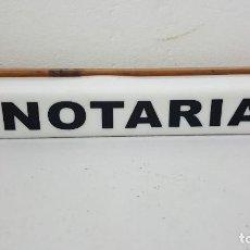 Coleccionismo de carteles: NOTARIA CARTEL LUNINOSO. Lote 213588230