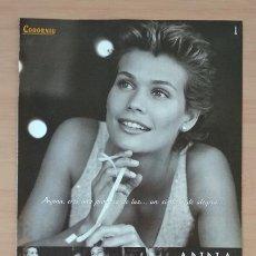 Coleccionismo de carteles: ANNA CODORNIU EL SEMANAL HOJA DE PUBLICIDAD DE PRENSA AÑO 2000. Lote 213791031