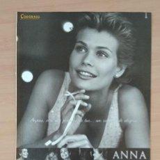 Coleccionismo de carteles: ANNA CODORNIU EL SEMANAL HOJA DE PUBLICIDAD DE PRENSA AÑO 2000. Lote 213791312
