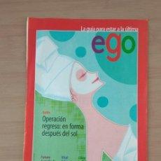 Coleccionismo de carteles: EGO MODA EL SEMANAL HOJA DE PUBLICIDAD DE PRENSA AÑO 2000. Lote 213791560