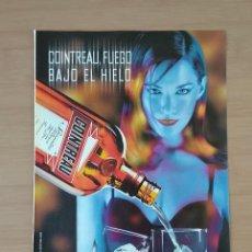 Coleccionismo de carteles: COINTREAU EL SEMANAL HOJA DE PUBLICIDAD DE PRENSA AÑO 2000. Lote 213791763