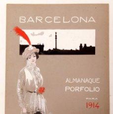 Coleccionismo de carteles: ORIGINAL PARA PORTADA DE ALMANAQUE DE 1914 - BARCELONA. Lote 213880863