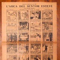 Coleccionismo de carteles: RAMON CASAS - AUCA - 1929 - L'AUCA DEL SENYOR ESTEVE. Lote 213894926