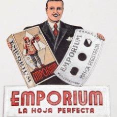 Collectionnisme d'affiches: EMPORIUM - PUBLICIDAD DE CUCHILLAS - LITOGRÁFICA, TROQUELADA Y EN RELIEVE. Lote 216881825